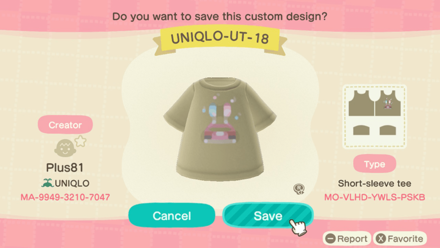 ACNH - Uniqlo Kids - UT18