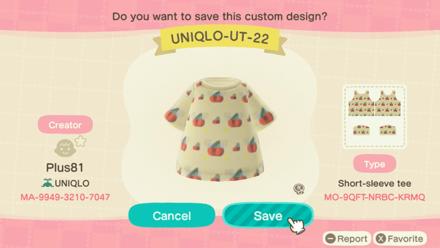 ACNH - Uniqlo Baby - UT22