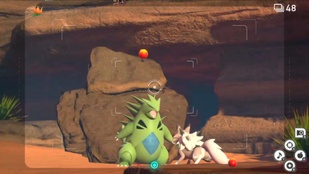 Lead Lycanroc to Tyranitar using Fluffruit.png