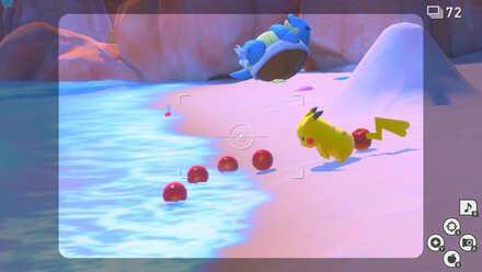 New Pokemon Snap Pikachu Fluffruit Beach.jpeg
