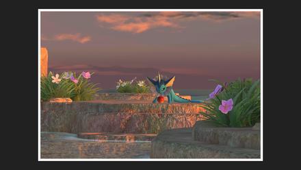 New Pokemon Snap - Voracious Vaporeon Photo