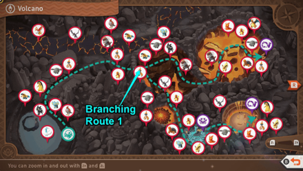 New Pokemon Snap - Volcano Branching Route Map