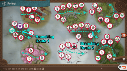 New Pokemon Snap - Forest Branching Route Map