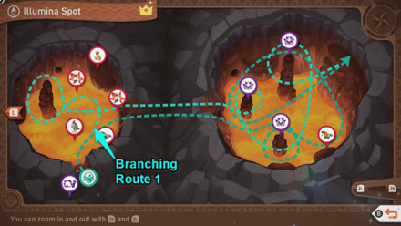 New Pokemon Snap - Volcano (Illumina Spot) Completed Alternate Routes
