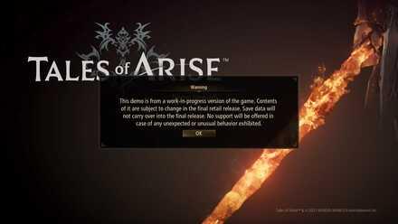 Демонстрационная версия Tales of Arise Передача сохранений