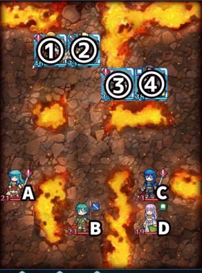 Paralogue 1-3 map